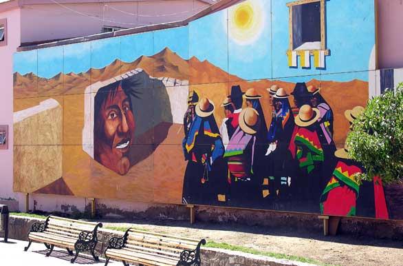 Mural en la ciudad fotos de calama archivo wc 3590 for Mural metro u de chile