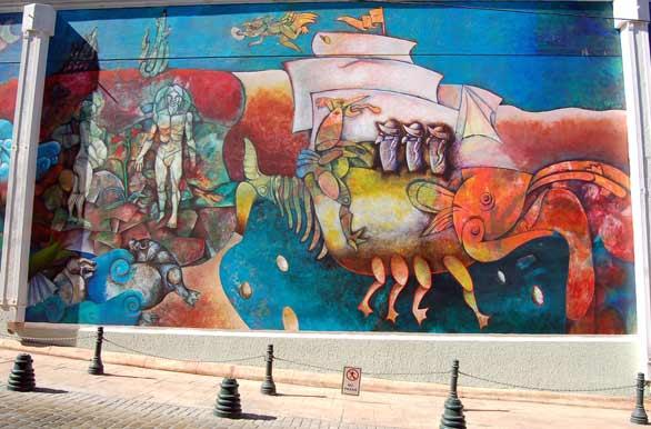 Mural en barrio ingl s fotos de coquimbo archivo wc 3827 for Mural metro u de chile
