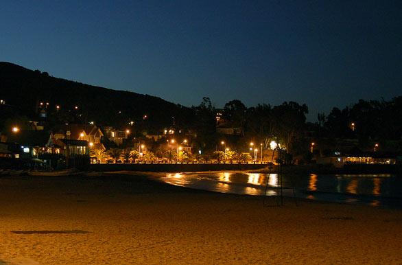 Playa nocturna - Fotos de Papudo / Zapallar - Archivo wc-3769