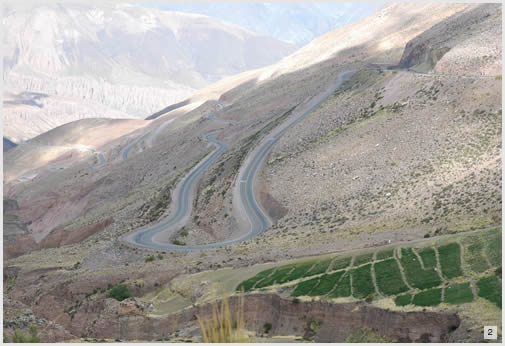 Crossing to Argentina through the Jama Pass