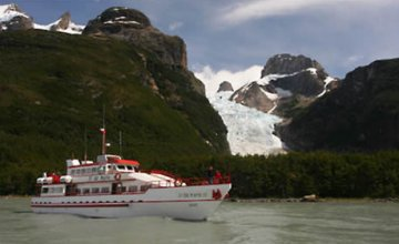 Sailing to Balmaceda and Serrano Glaciers