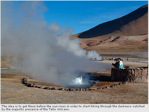 Visit to the Tatio Geysers