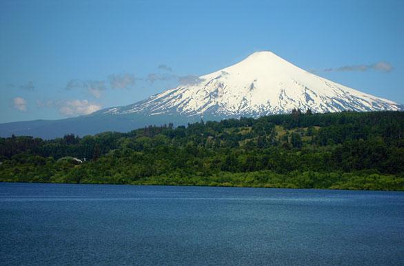 Lago y volcán - Fotos de Villarrica - Archivo wc-3175